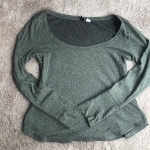 Urban Outfitters amy green long sleeve shirt